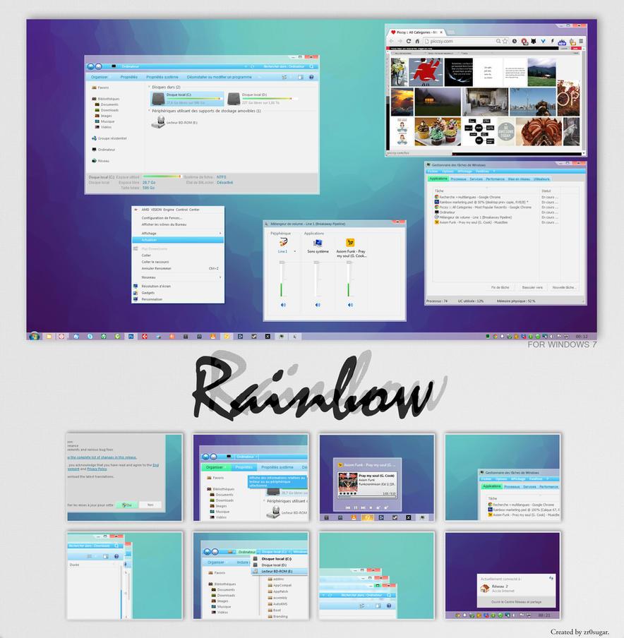 Rainbow theme for Win7