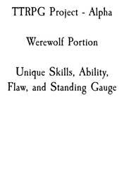 TTRPG - Werewolves Section