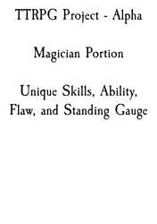 TTRPG - Magicians Section