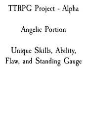 TTRPG - Angelics Section