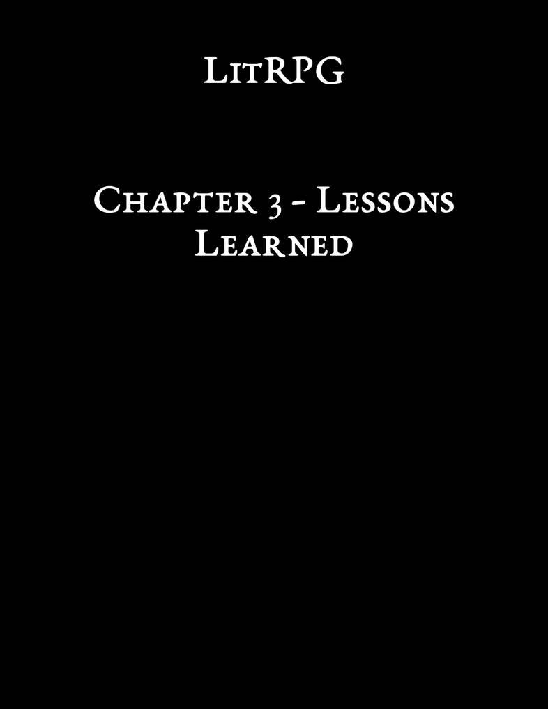 LitRPG - Chapter 3
