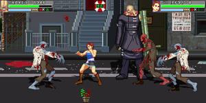Jill and Nemesis vs Zombies