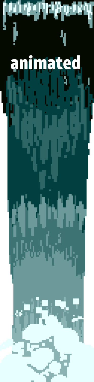 Pixel Waterfall