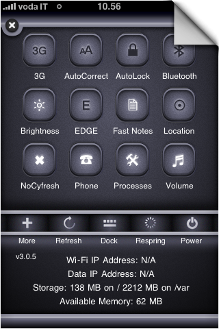 Graphite SBSettings Theme by GianlucaDivisi
