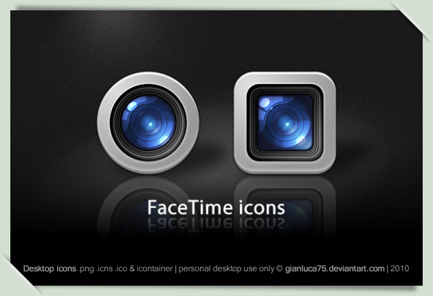 FaceTime icons by GianlucaDivisi