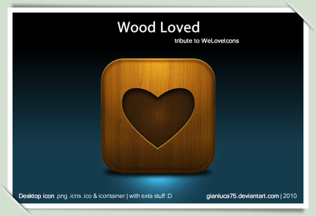 3D Wooden love sign icon