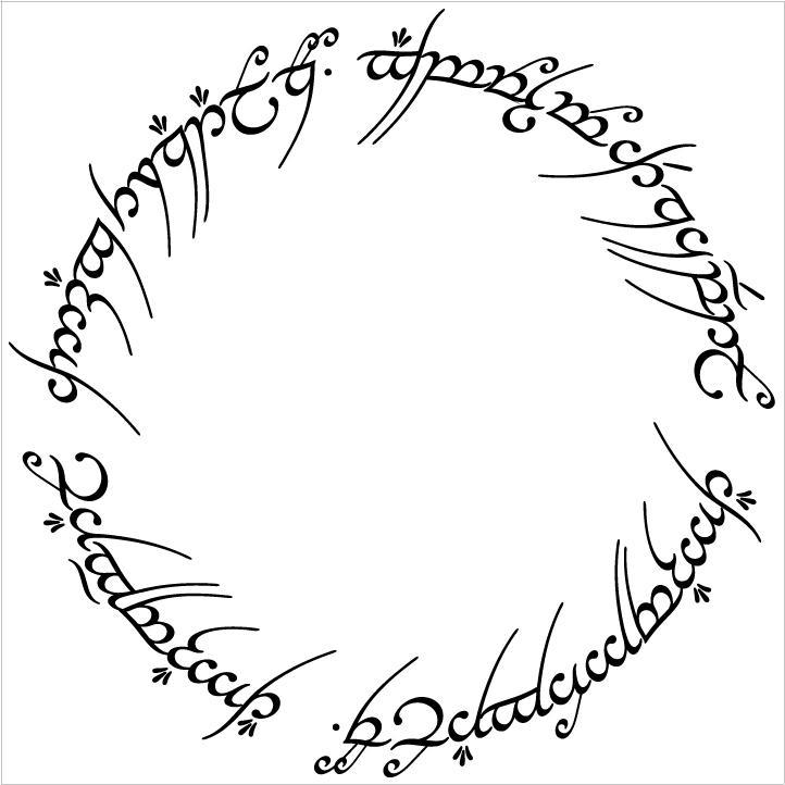 Top Lotr Elvish Alphabet Images For Pinterest Tattoos