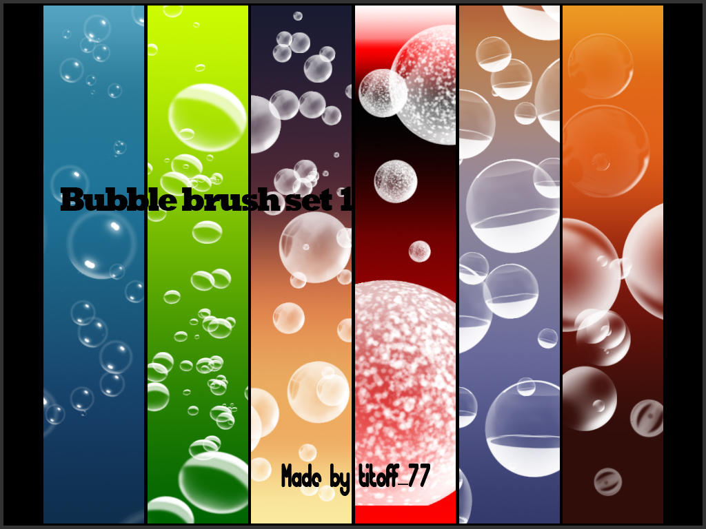 Bubble brush set 1 by titoff77