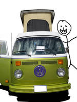 Classic VW Camper Van_PLUS CREEPY VAMPIRE by Arthur-Ramsey