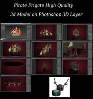 Pirate Frigate Photoshop 3D Layer by Arthur-Ramsey