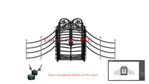 Gothic Gate PNG by Arthur-Ramsey