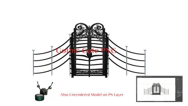 Gothic Gate PNG