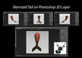 Mermaid Tail on Photoshop 3D Layer