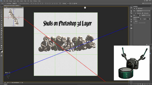 Stack of Skulls on Photoshop 3d Layer