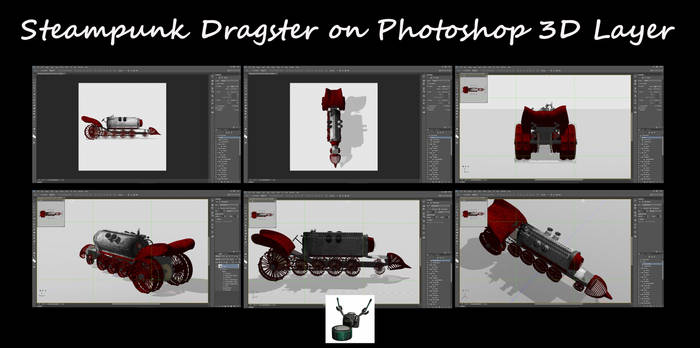Steampunk Dragster on Photoshop 3D Layer