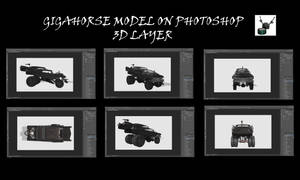 Gigahorse on Photoshop CC 3D Layer by Arthur-Ramsey