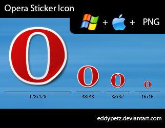 Opera Sticker Icon