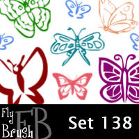 fly brush set 138 by FlyBrush