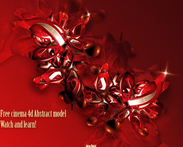 Free Cinema4d Abstract Model by LogitechAdrian on DeviantArt