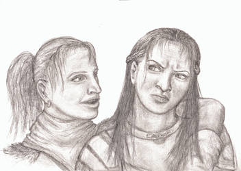 Andrea and Nathalia by SapphireCrow