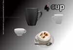Coffe tea cup set PSD