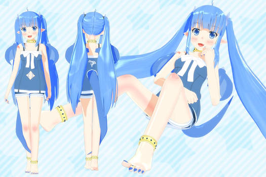 [Outdated] Lulu MMD Model DL CLOSED - Ver 1.12