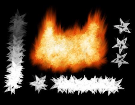 GIMP - Custom Fire Brush by xGreatCthulhux