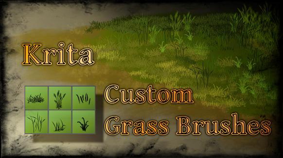 Krita - Custom Grass Brushes