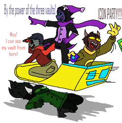 Geometry Dash - Three Vaults On A Sled by HyperiorAlphaRaycer