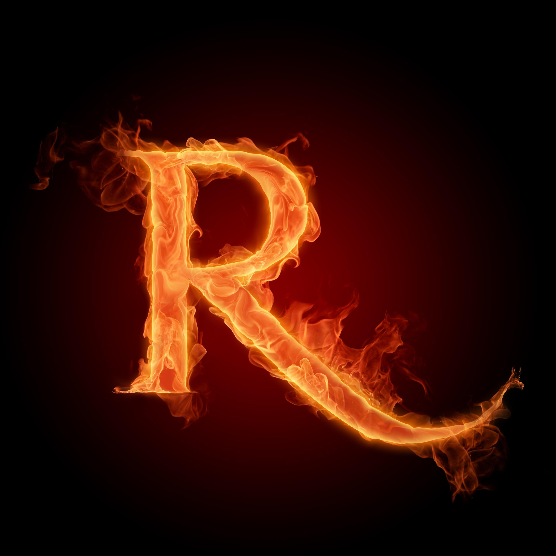 B Letter In Fire 36 Fire Letters HD by ...