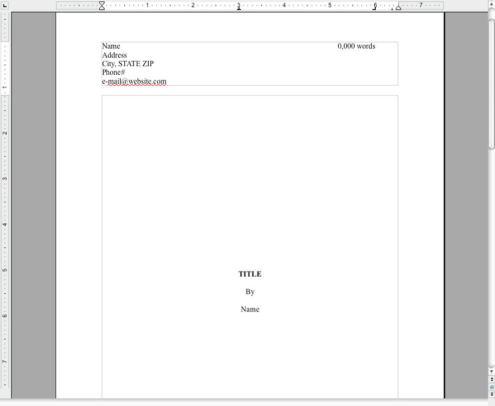 Novel Manuscript Template by KimberlyDawn