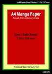 A4 Manga Template - 300 dpi