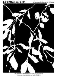 LOOMtones C01 Black Foliage by LoomStudioCo