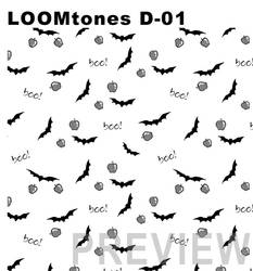 LOOMtones D01 Bats and Apples by LoomStudioCo