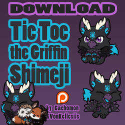 Tic Toc the Griffin Shimeji | COMMISSION