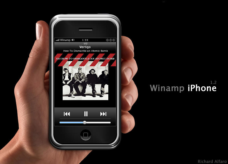 Winamp iPhone by elralfaro