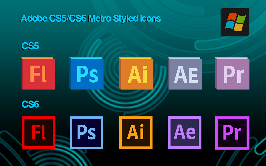 Adobe CS5/6 Metro Icons by Belaboy