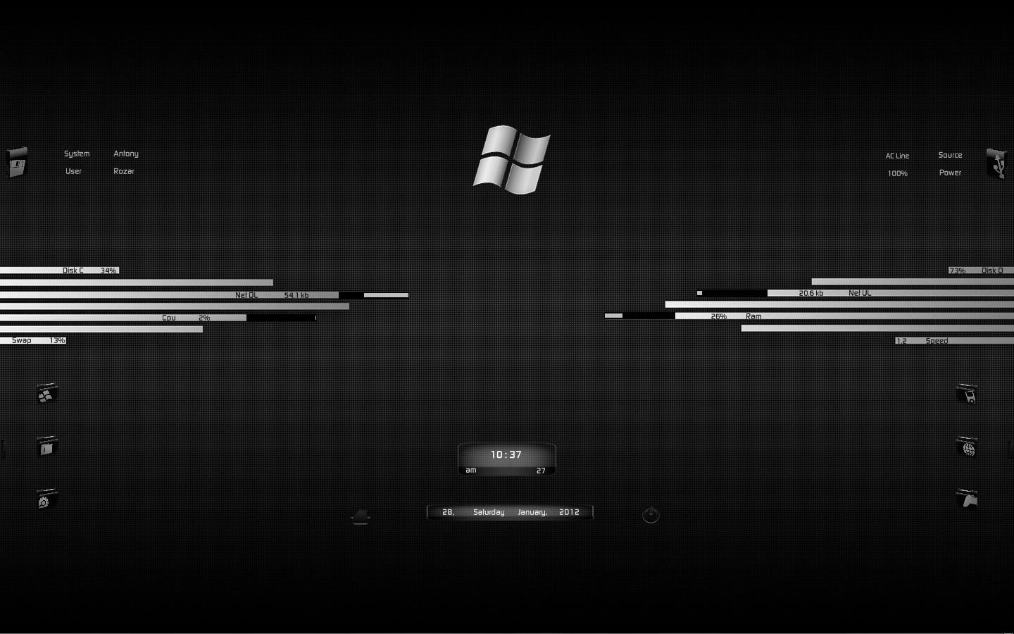 Windows 7 by darkeagle2011 on deviantart for Bureau windows 7 rainmeter
