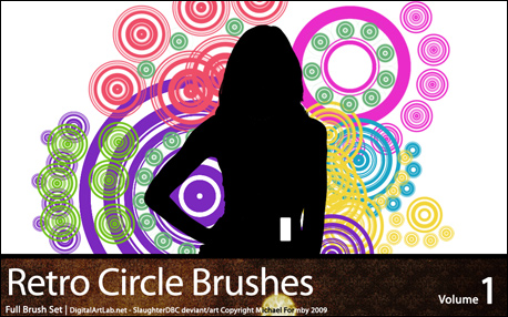 Retro Circles Brushes