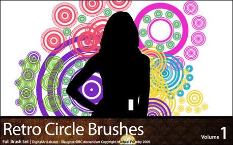 Retro Circles Brushes by slaughterdbc