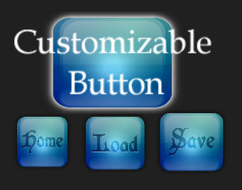 Glossy Square Button