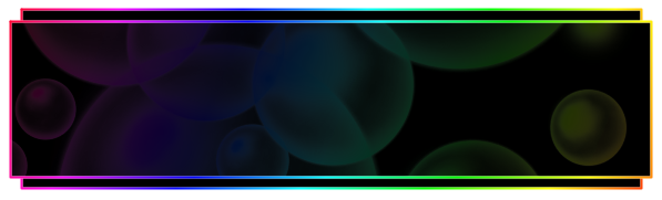 Rainbow Bubble Text Box