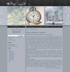 Winter madness blog layout by CountessMorticia