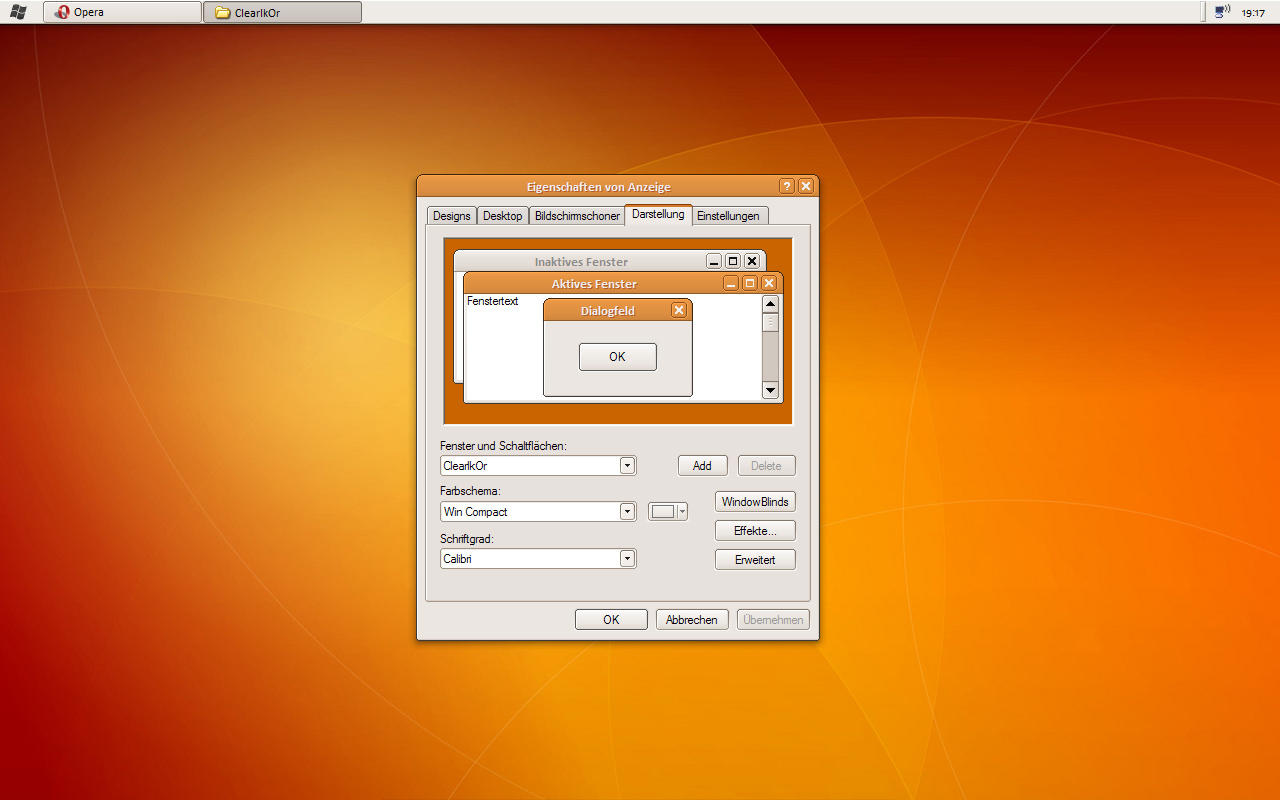Clearlooks 0.6 Orange by hsn