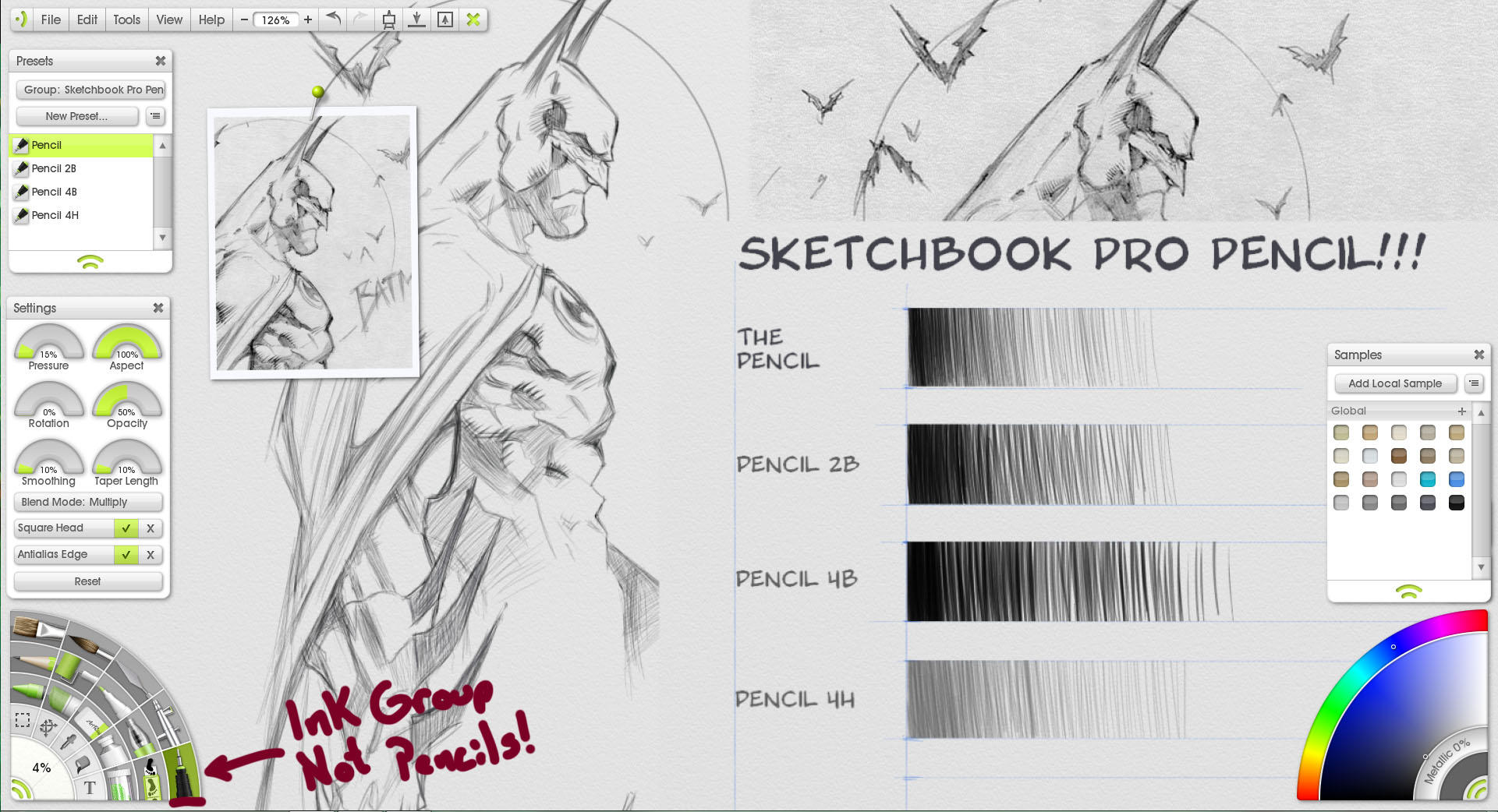 How to create grid in sketchbook pro -  Sketchbook Pro Pencil In Artrage By Rad66203