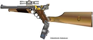 Modified Scifi Luger pistol - HLebooks.com