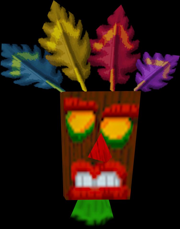 aku aku crash bandicoot model by crasharki on deviantart