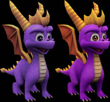 Spyro (Spyro A Hero's Tail/Crash Twinsanity) Model