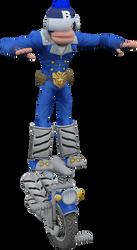The Blue Monkey (Ape Academy) Model