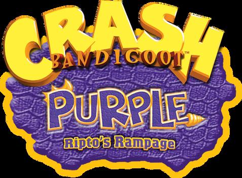Crash Bandicoot Purple Ripto's Rampage Logo HD
